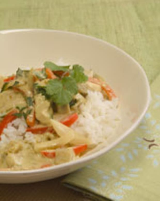 Green Curry Chicken and Vegetable Rice