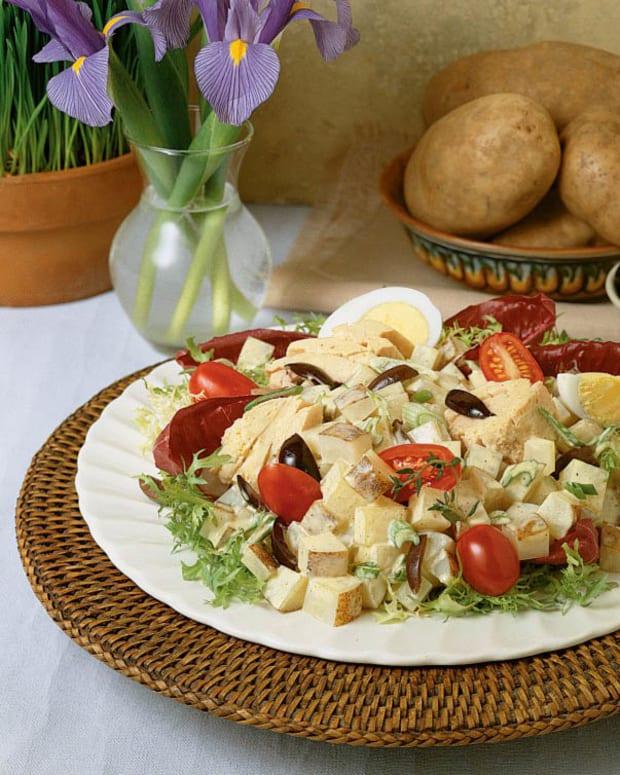Idaho potato nicoise salad