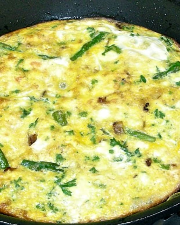 asparagus and cheese frittata