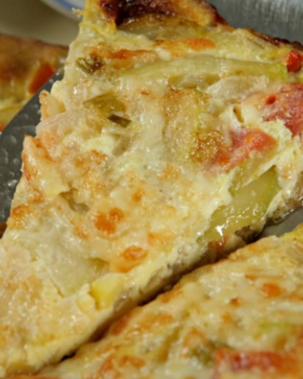 Two Tone Zucchini Frittata