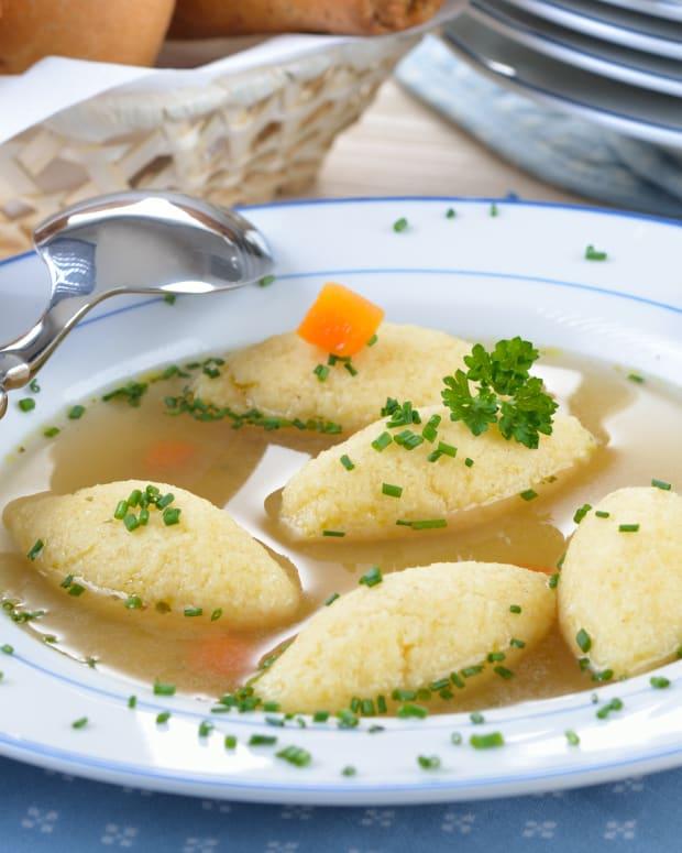 Hungarian Farina Soup Dumplings -Griz Galuska
