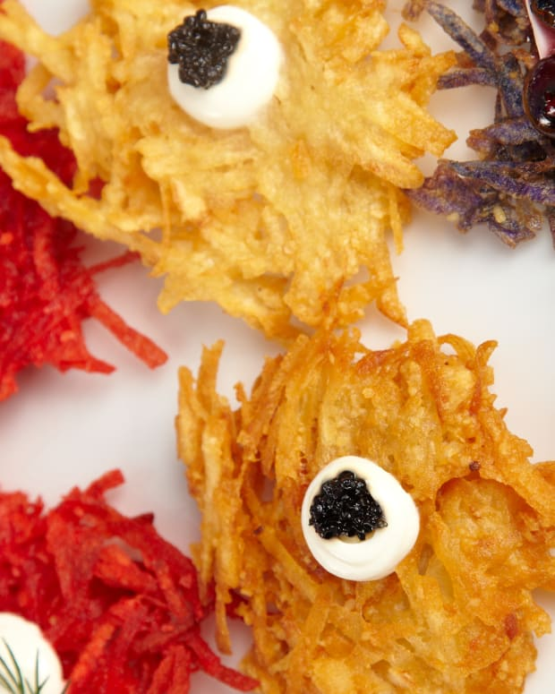Blue Potato Latkes