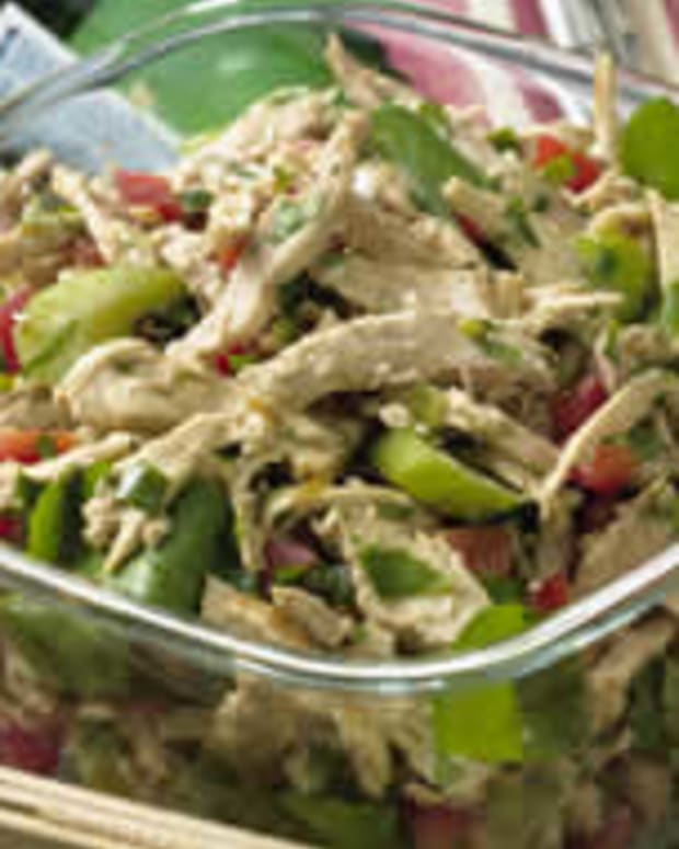 Chicken Salad with Vegetables and Sesame Ginger Vinaigrette