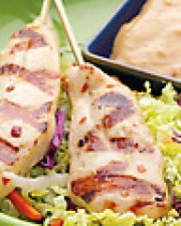 Asian Turkey Cutlets with Peanut-Ginger Sauce