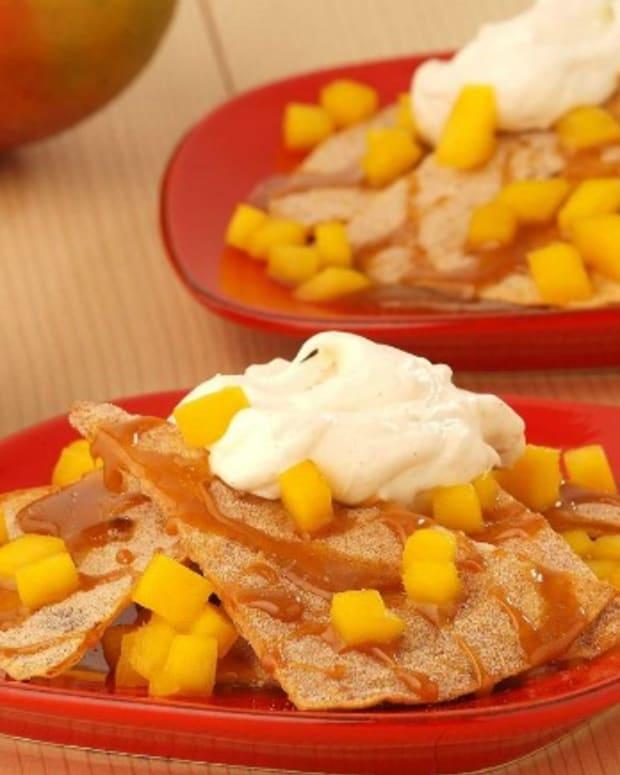 Sweet Caramel Mango Nachos