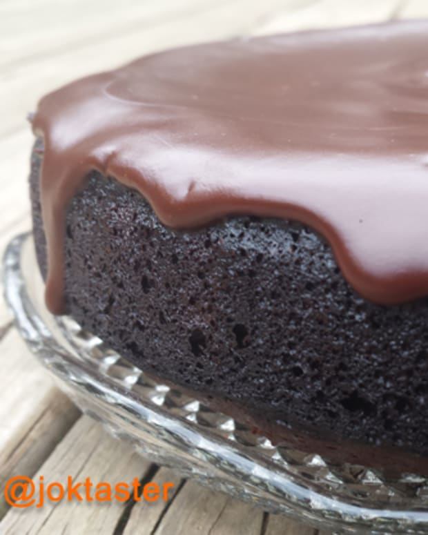 Week 21 Flourless Chocolate Cake with glaze featured image