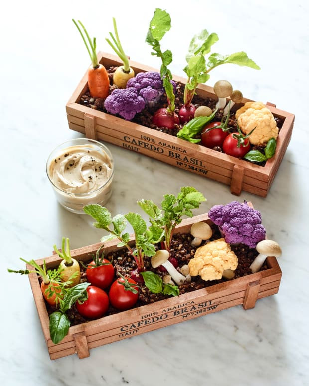 edible planter centerpiece
