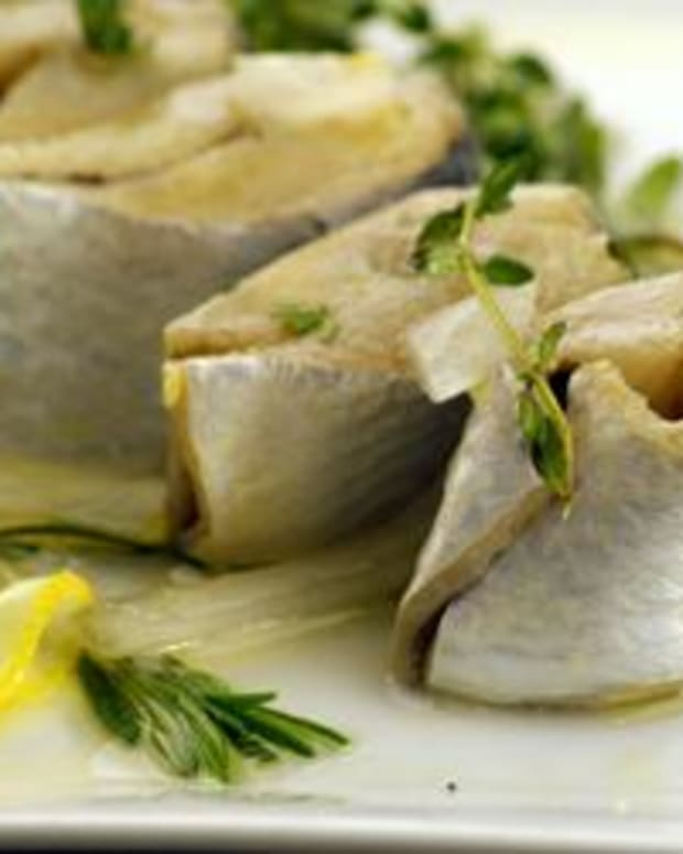 Olive Oil Poached Herring