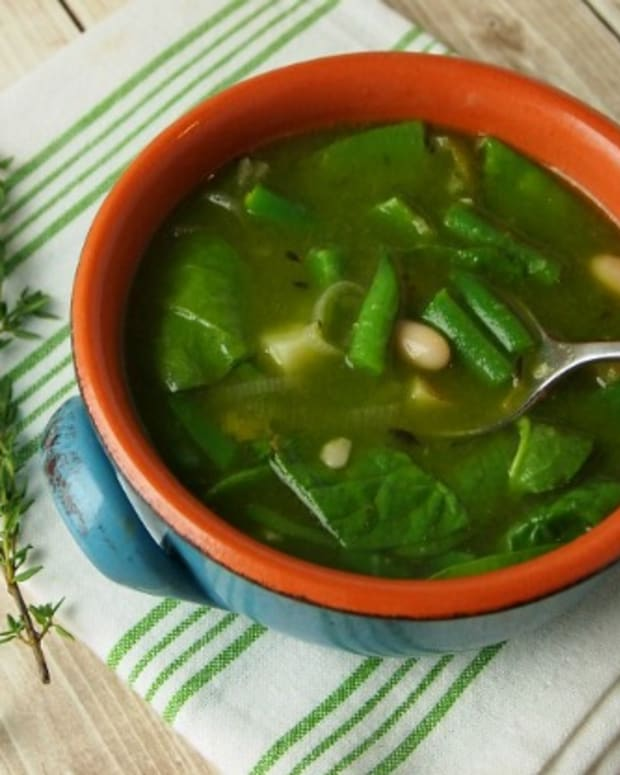 A Very Green Soup with tons of vegetables