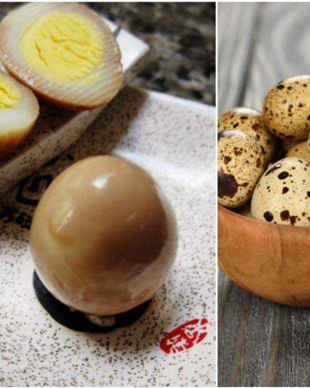 pickled quail eggs