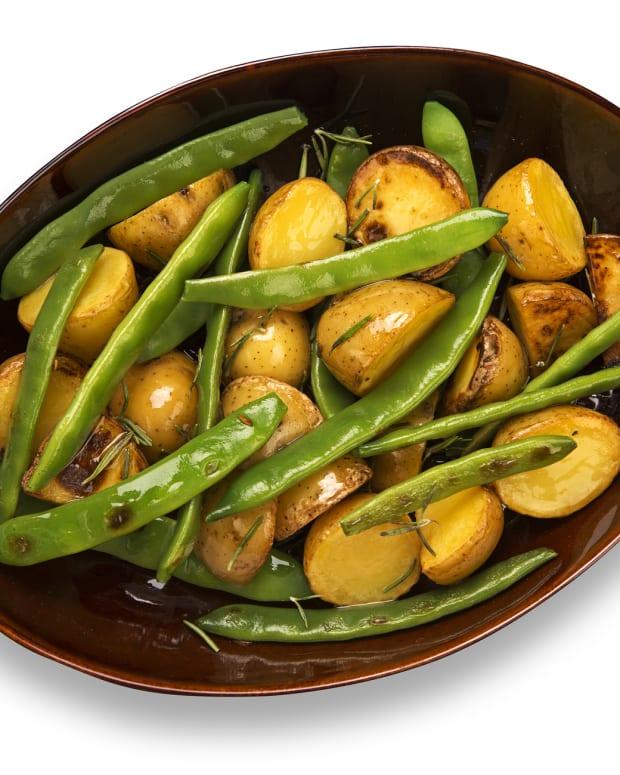 Warm Potato Salad, green beans and horseradish vinaigrette