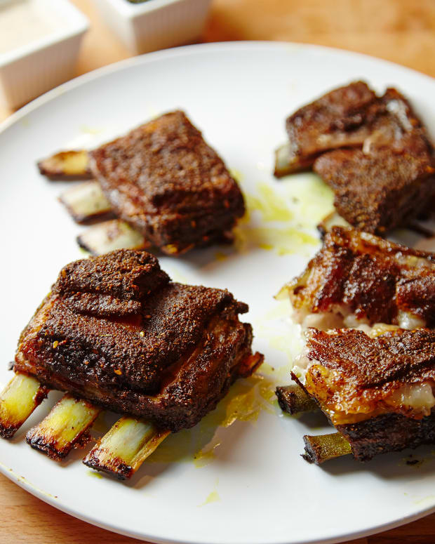 slow roasted lamb riblets