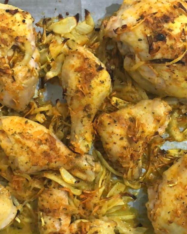 Baked Oniony chicken