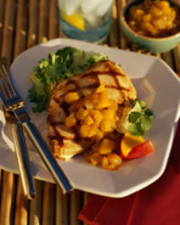 Grilled Chicken with Mango Ginger Chutney