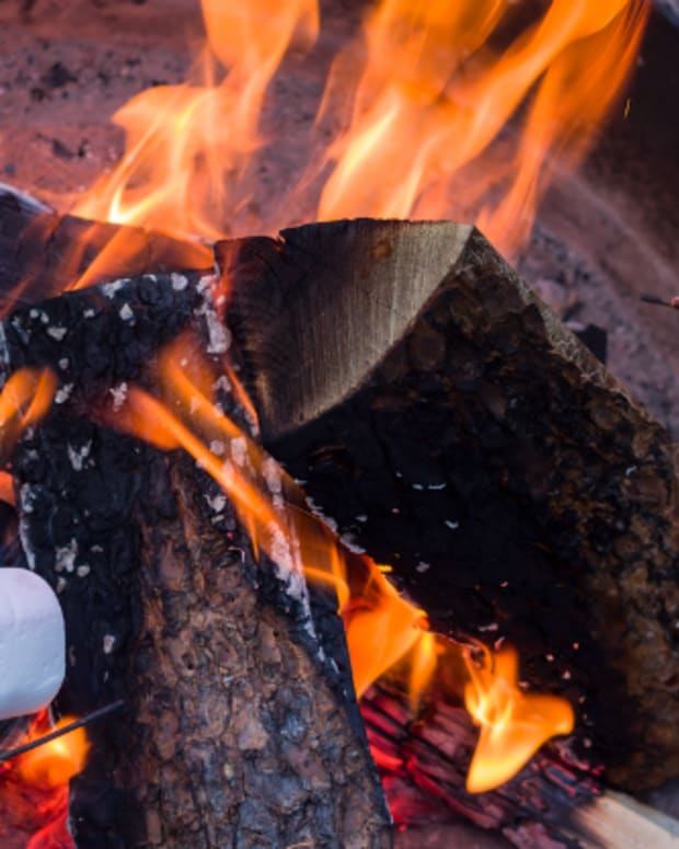 marshmallows on a fire