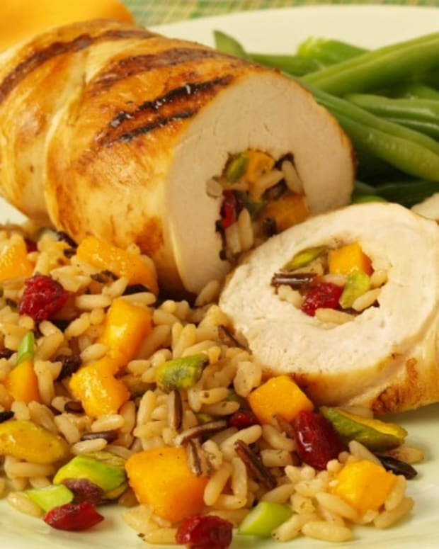 Chicken with Spiced Mango Rice