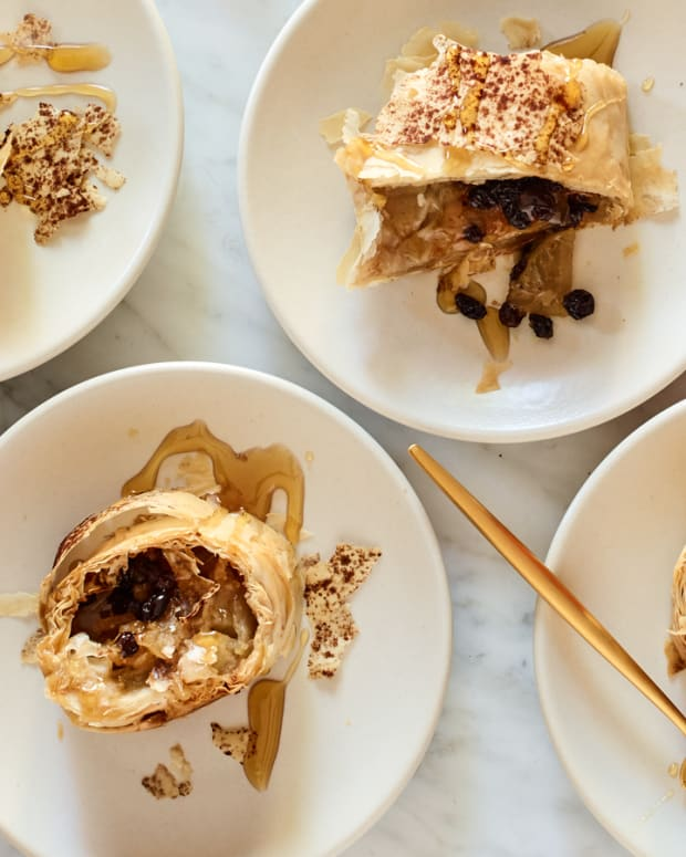 honey apple strudel
