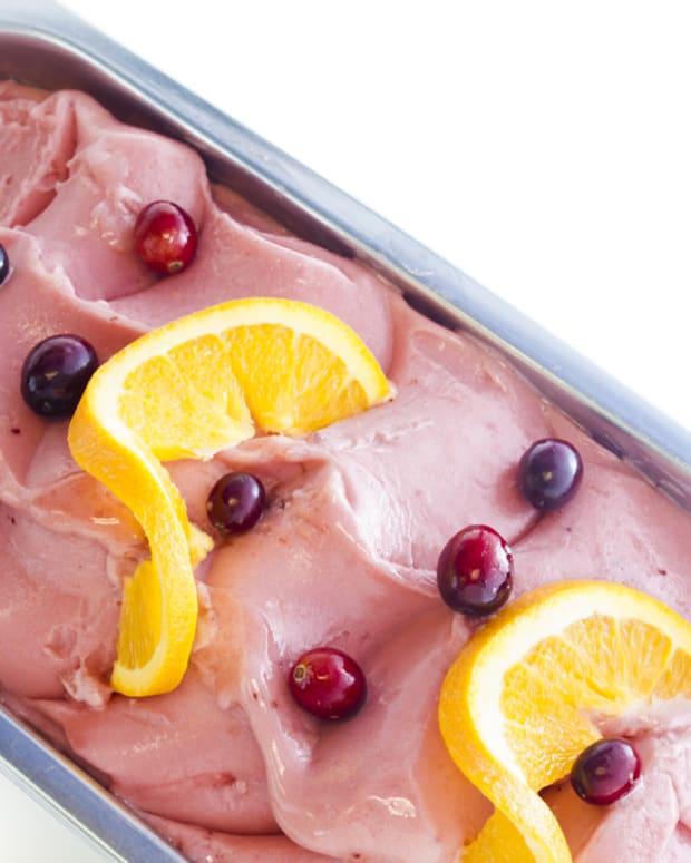 frozen cranberry dessert