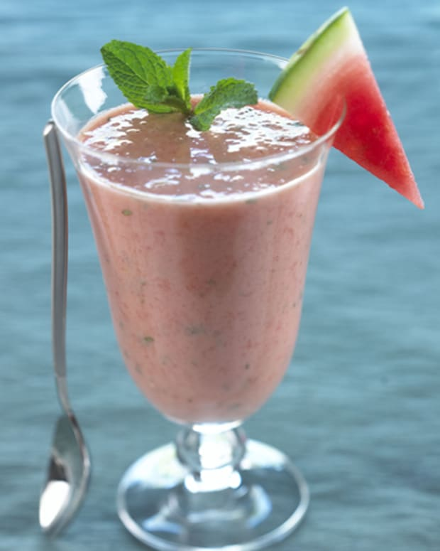 watermelon yogurt mint smoothie