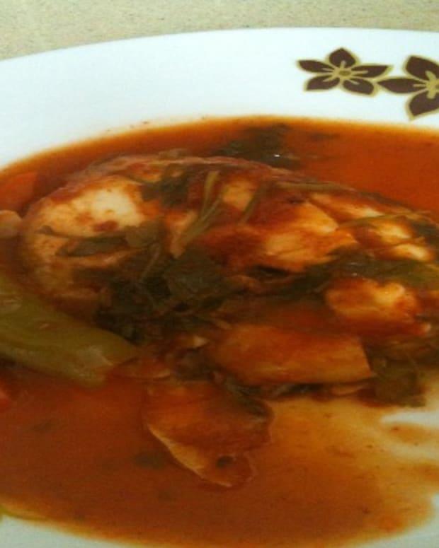 Moroccan style fish (chrymeh)