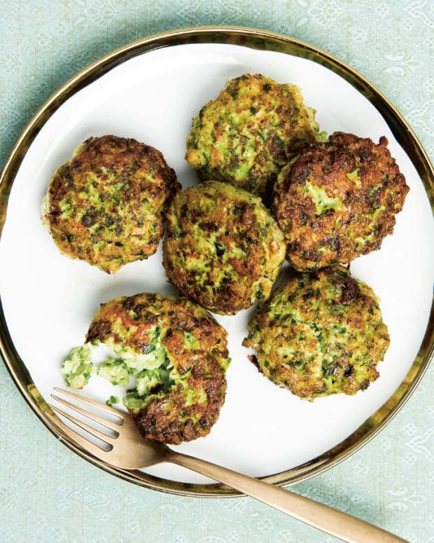 CHICKEN, SCALLION, AND GINGER FRITTERS