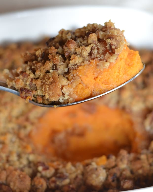sweet potato casserole with streusel