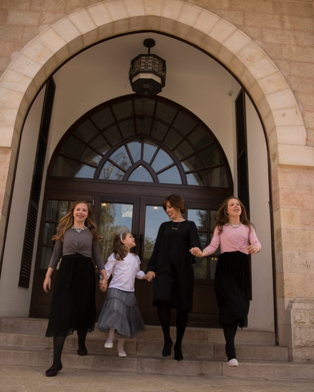 jamie and family at Waldorf Astoria Jerusalem