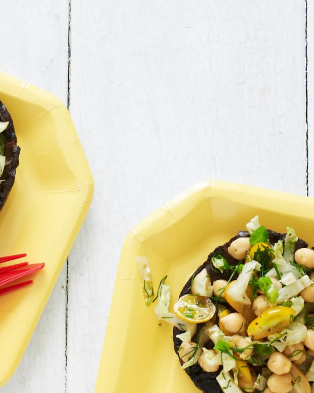 Salad Stuffed Portobellos