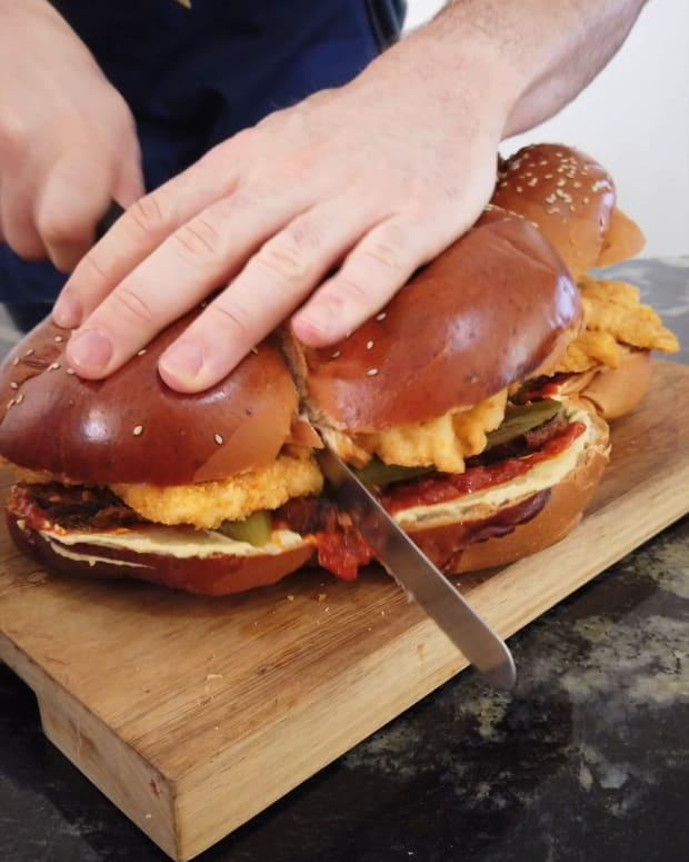 Chicken Schnitzel Challah Sandwich