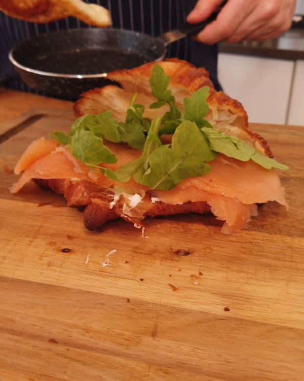 Croissant, Lox and Cream Cheese