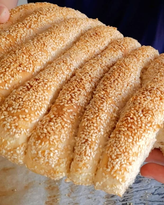 Sesame Stick Breads
