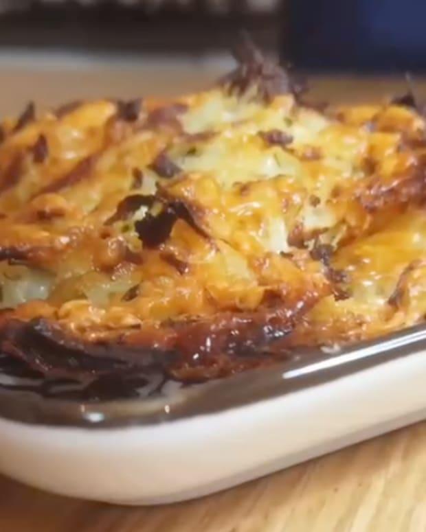 Baked Parmesan latkes