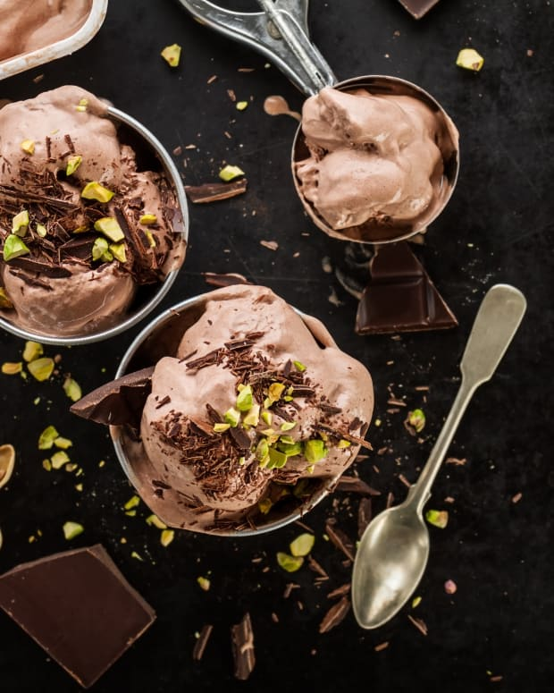 Chocolate gelato homemade