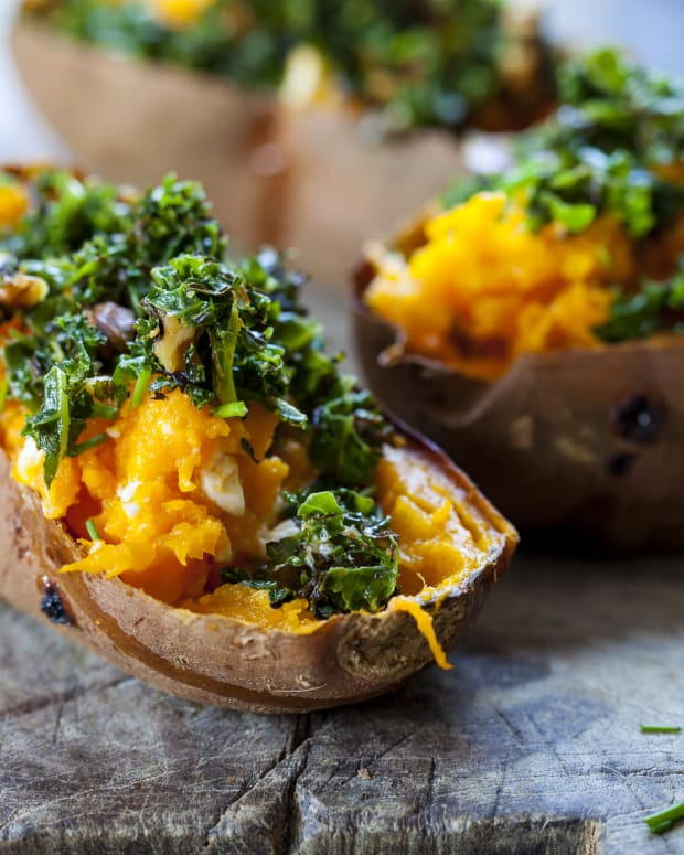 sweet potato skins