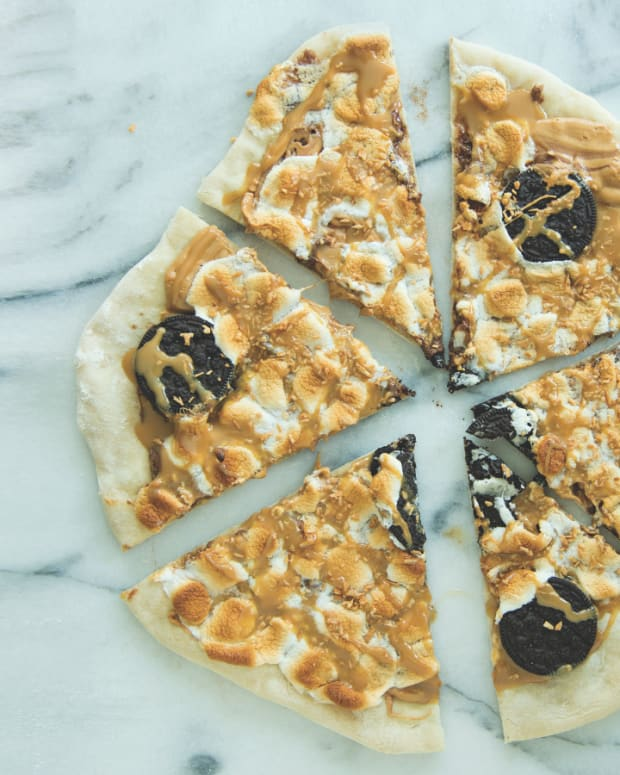 decadent dessert pizza