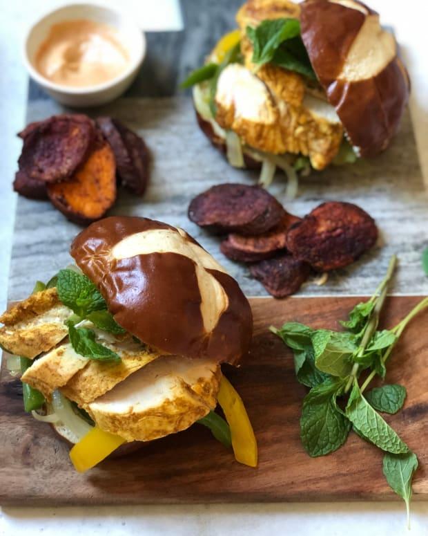 Dini Klein Moroccan Chicken Sandwiches