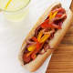 Hot-Dog with Peppers and Onions