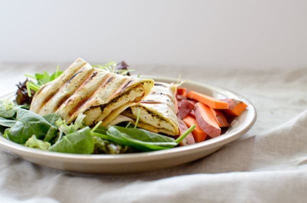 Grilled Chicken and Olive Panini
