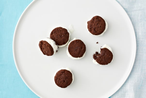 Mini Chocolate Coconut Sandwiches