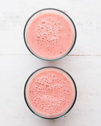 WATERMELON STRAWBERRY SMOOTHIE long