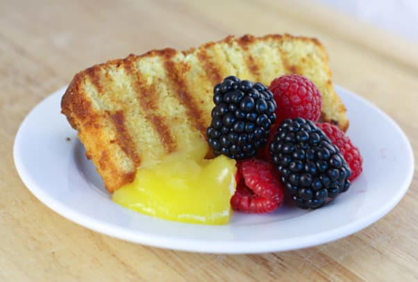 grilled coconut pound cake