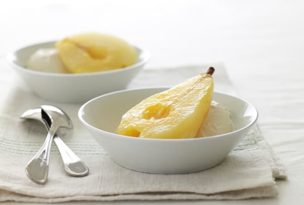 Orange Ginger Poached Pears
