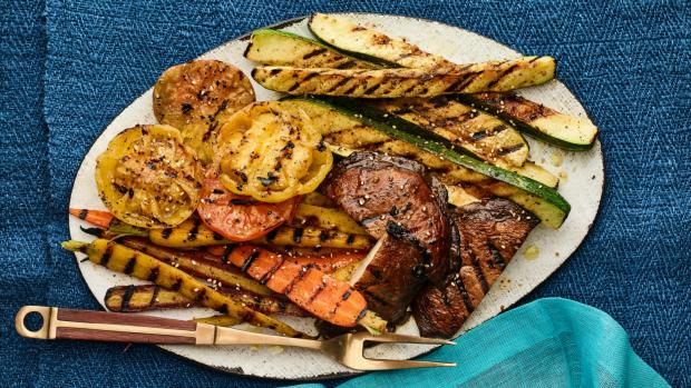 summer grilled vegetable platter