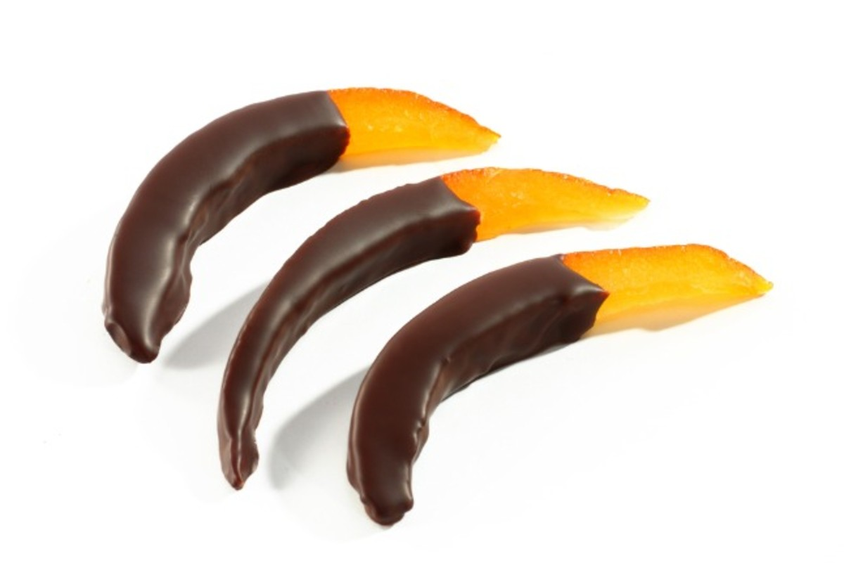 chocolate orange rind