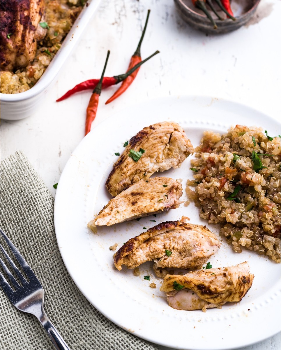 SPICY ROAST CHICKEN WITH MEXICAN QUINOA
