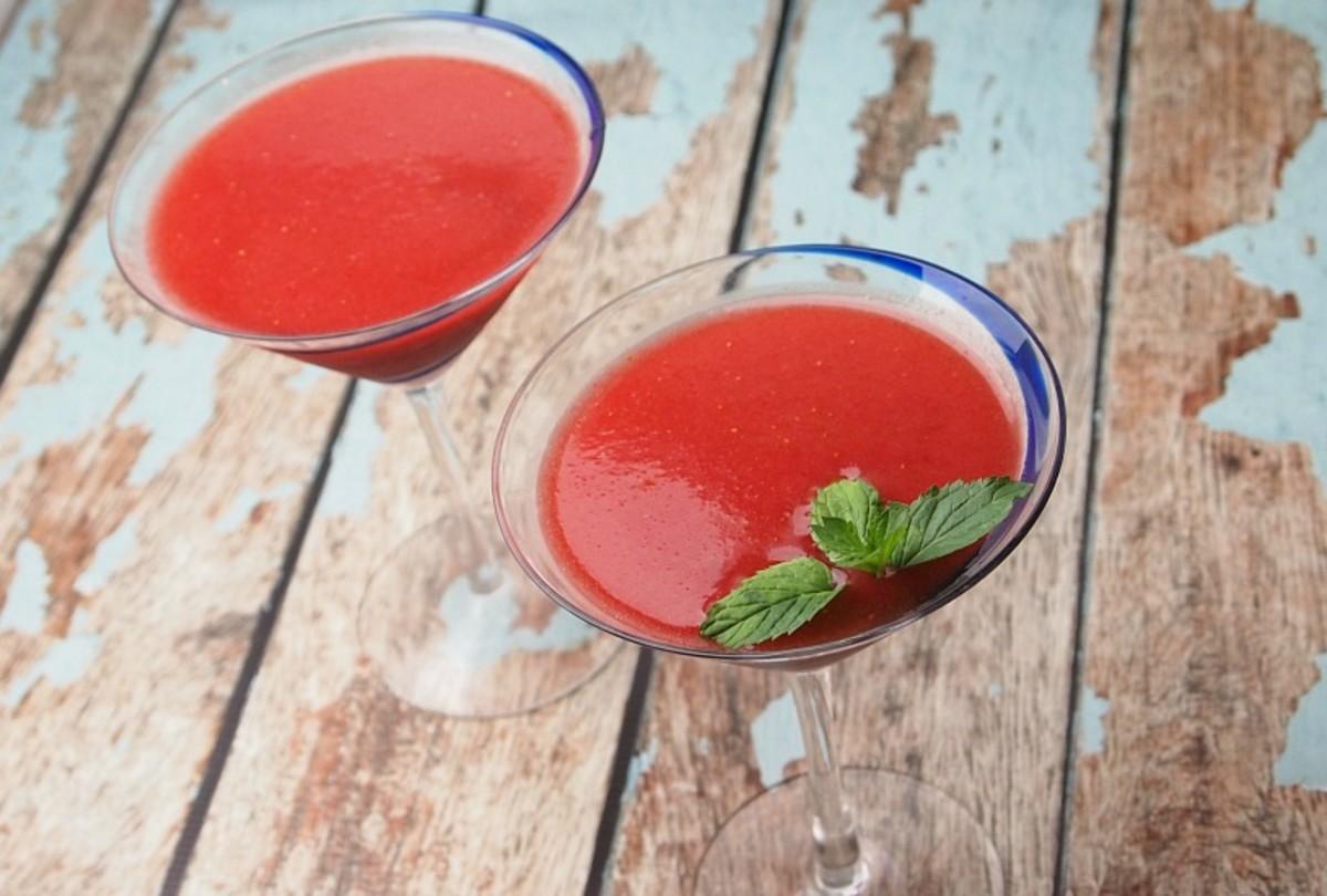 pomegranate strawberry daiquiri
