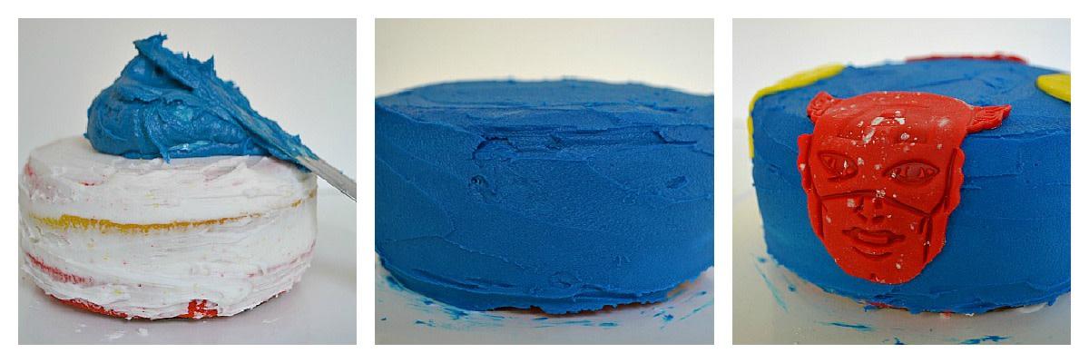 Superhero-Birthday-Cake-Blue-Layer-Collage
