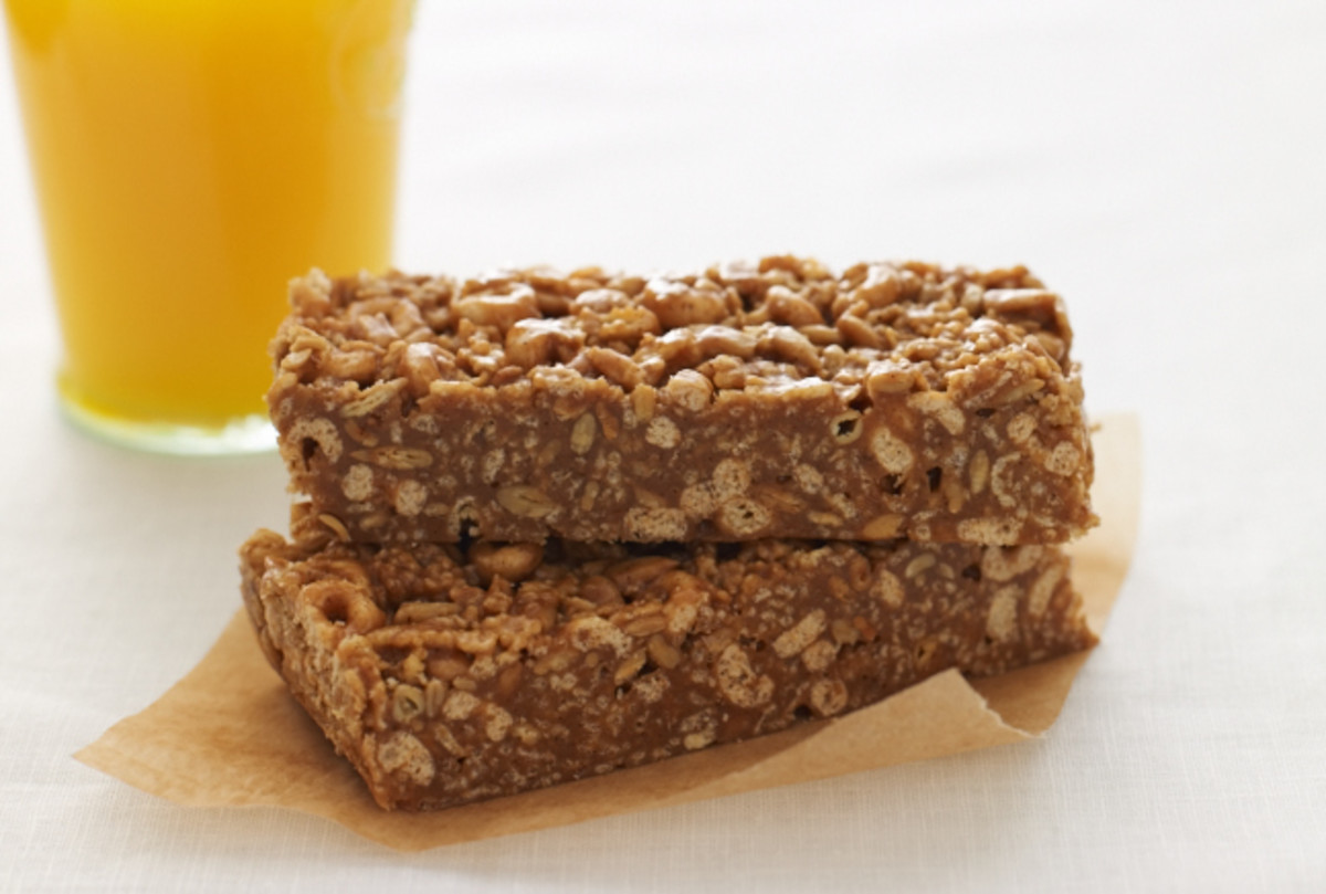 Sweet Peanut Butter Cereal Bars