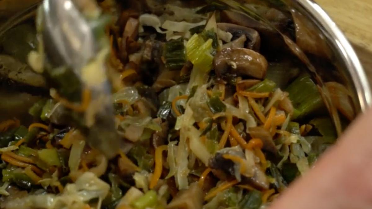 Vegetarian Kreplach Filling