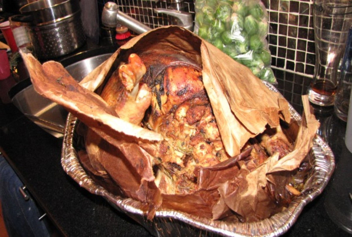 Turkey in a brown paper bag